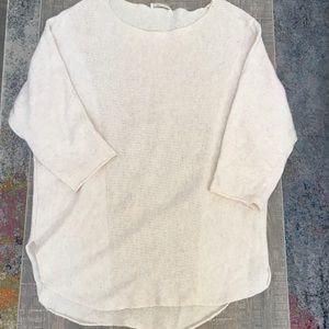 Cream 3/4 Length Lightweight Sweater